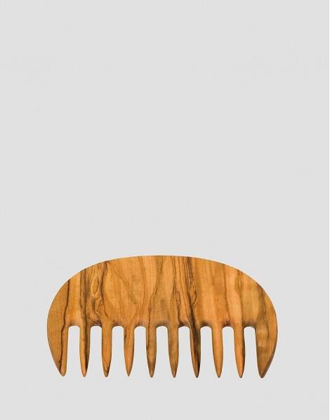 REDECKER Drewniany grzebień do włosów afro drewno oliwne