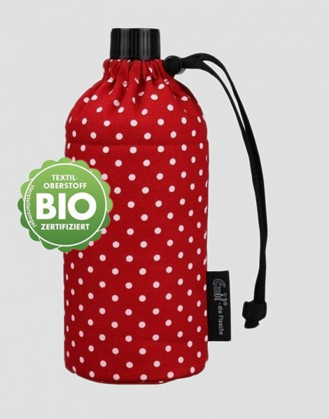 EMIL Ekologiczna butelka czerwona w białe kropki 400 ml