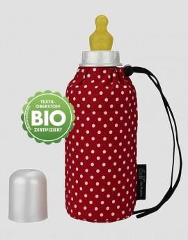 EMIL Ekologiczna butelka ze smoczkiem czerwona w białe kropki 250 ml