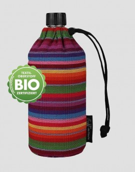 EMIL Ekologiczna butelka w kolorowe paski 600 ml